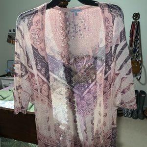 Lightweight patterned cardigan